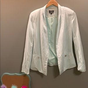 Cute teal open front jacket